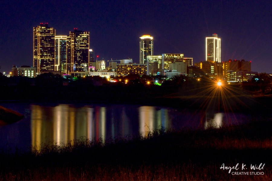 Cityscape at Night, Fort Worth